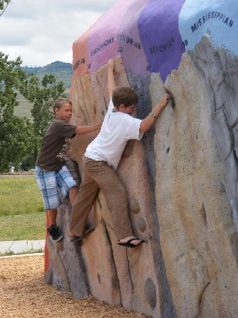 ScienceWorks Hands-on Museum: Climb Through Time Geological Climbing Wall Exhibit
