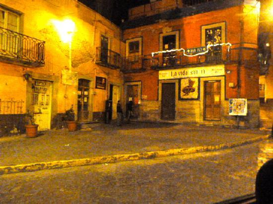 Casa Mexicana: View from outside at night