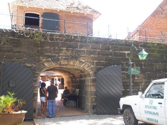 Paramaribo, Surinam: Gate to Fort Zeelandia
