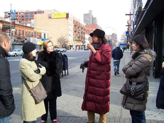 Carolyn Johnson Leading Our Welcome To Harlem Tour
