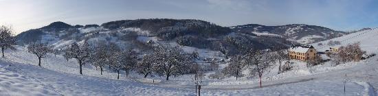 Orbey, France : vue aux alentours du gîte