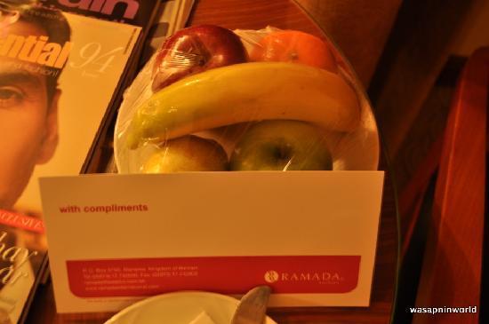 Ramada Hotel Bahrain: Free fruit