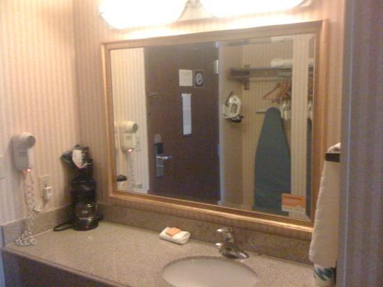 La Quinta Inn Detroit Southgate : sink area (shower right across from it)
