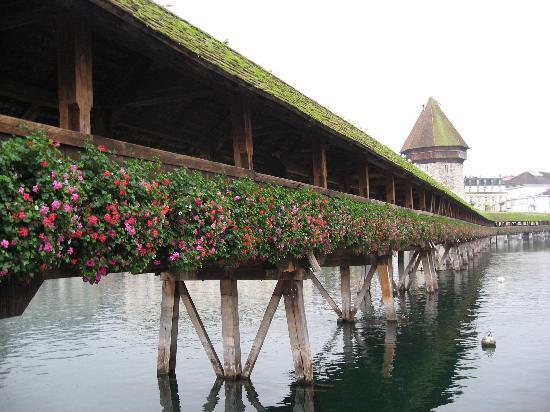 Boutique Hotel weisses Kreuz: Old Bridge in front of Hotel
