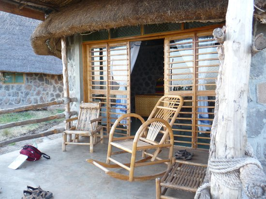 Arba Minch, Etiopia: Private balcony on 2nd stay