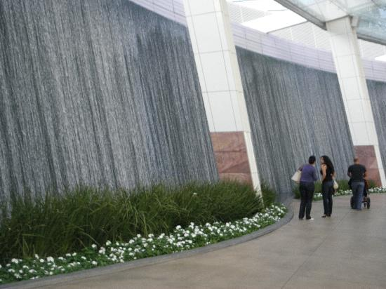 TripAdvisor & wall of water @ Aria - Picture of ARIA Resort \u0026 Casino Las ...