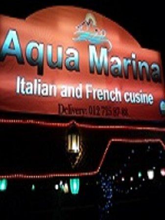 Aqua Marina: Italian and French Cusine.
