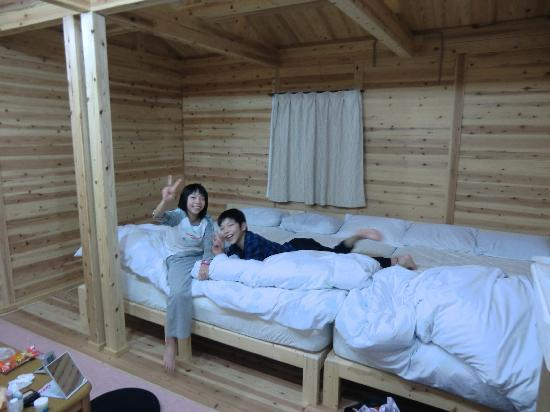Heisenji Family Villa: ゆったり大きなベット