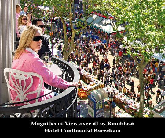 Hotel Continental Barcelona: Balcony Ramblas