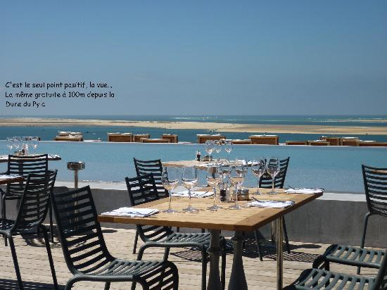 la vue de la terrasse photo de la co o rniche pyla sur mer tripadvisor. Black Bedroom Furniture Sets. Home Design Ideas