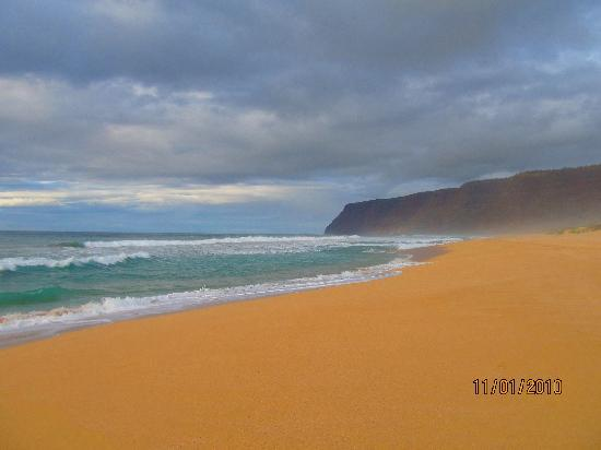 Polihale State Park: View of the Napali Coast