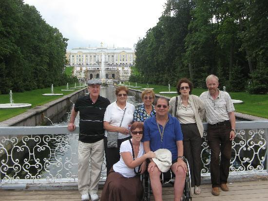 St. Petersburg, Russia: In Peterhof with an Israeli family party, 2009