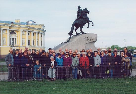 With an Israeli group of 40 - 2001, Senate square, St.Petersburg