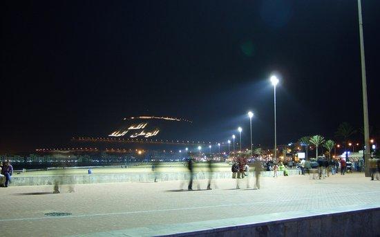 Agadir beach at night