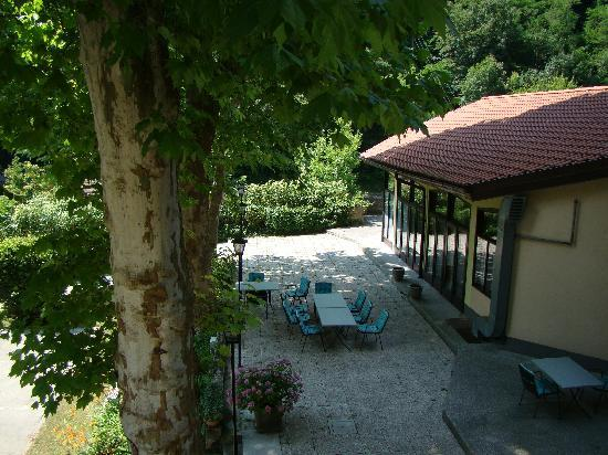 Most na Soci, Eslovenia: Back terrace