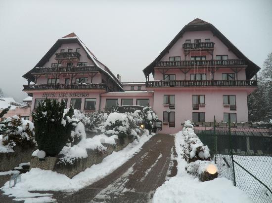 Hotel des Vosges : l'Hôtel des Vosges sous la neige