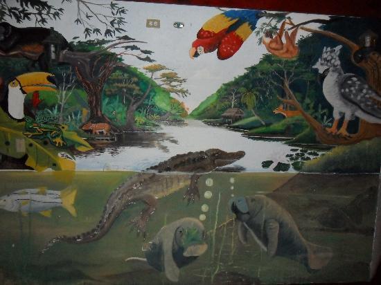 Hotel La Rumba, Costa Azul Beach: Wall art in the restaurant