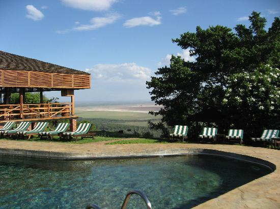 Lake Manyara National Park, Tanzania: pool and view