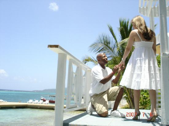 Moxons Beach Club: she said I DO :-)