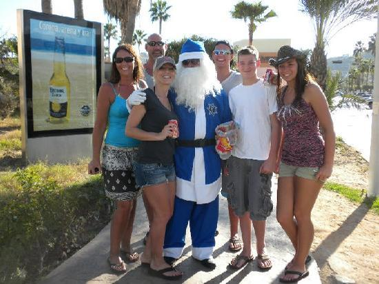 Marina Sol Resort: My Family with Santa in town