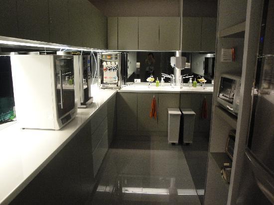 CityInn Hotel - Taipei Station Branch III: self service kitchen with fridge, microwave, coffee/tea, hot water dispenser