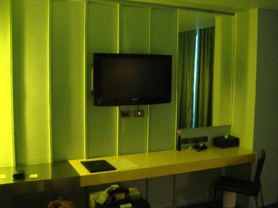 The Heritage Baan Silom Hotel : chambre verte