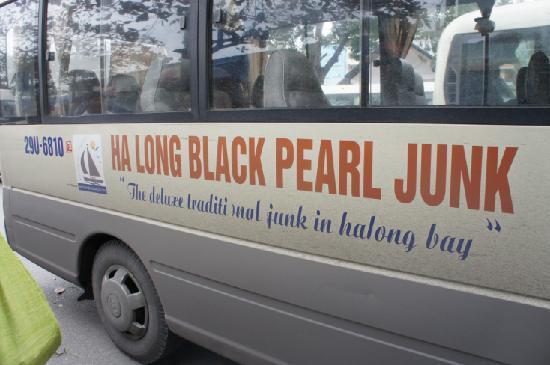 Ha Long Black Pearl Junk Day Cruise: Small dirty bus