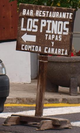 Los Pinos: Sign at entrance to village (coming from the seafront)
