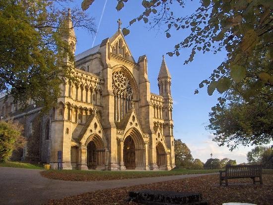 St Albans Cathedral : Cathedral at St Albans