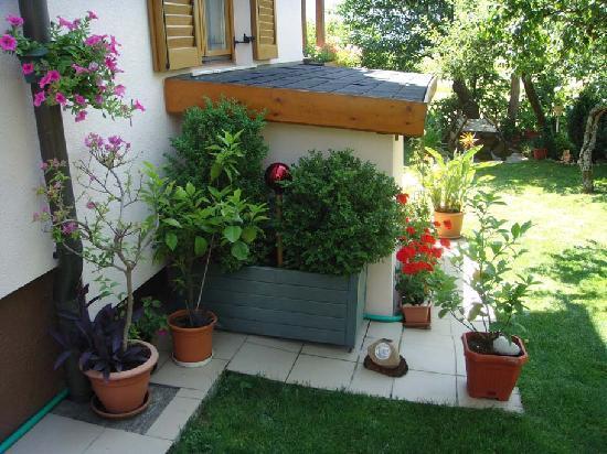 Komfort Ferienwohnungen Reichmann: Ausschnitt vom Garten - ein Ruhepol