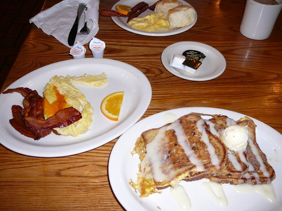 French Toast, Bacon & Eggs at Cracker Barrel Jan 2011