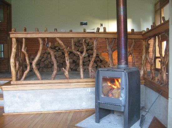Refugio Torre Central: the refugio is heated up by stoves