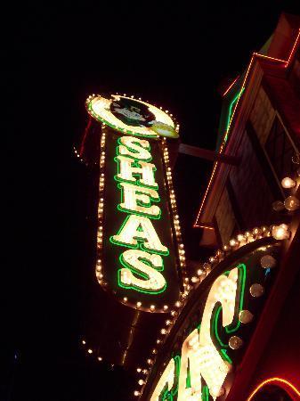 Night time view of O'Sheas