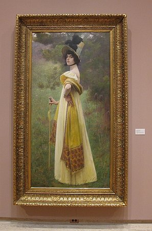 Madison, WI: Charles Sprague Pearce, The Shawl