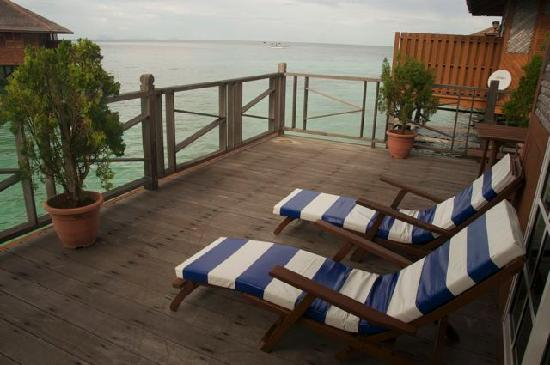 Mabul Water Bungalows: balcony
