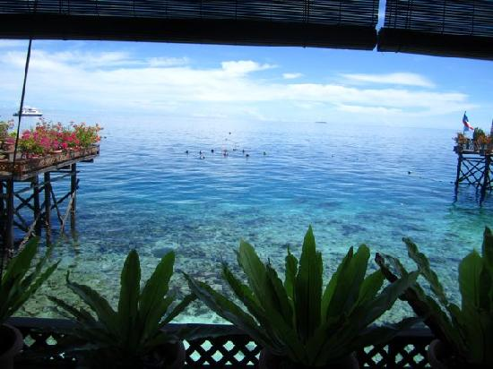 Mabul Water Bungalows: view from the restaurant