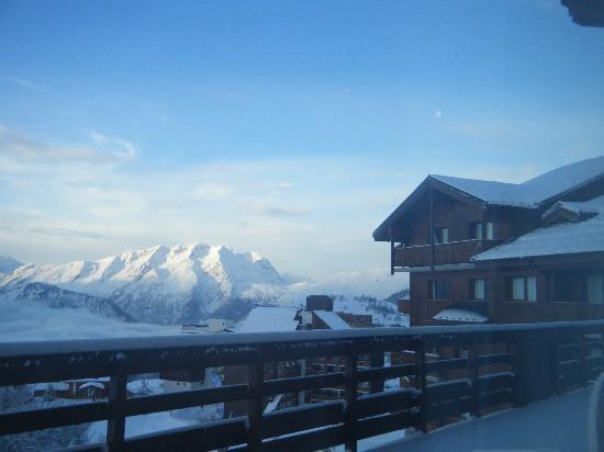 Club Med L 'Alpe d'Huez la Sarenne : VUE DEPUIS LA SALLE A MANGER