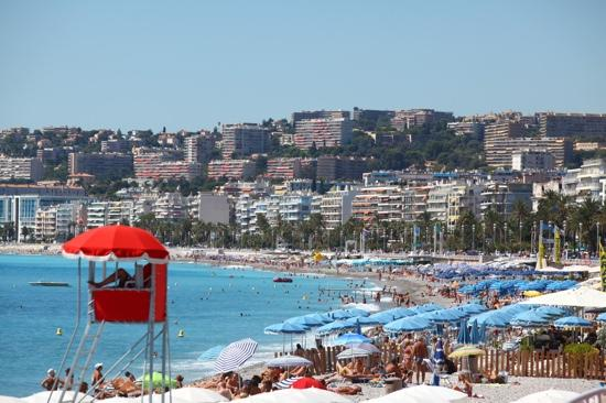 Nice, France: summer on the beach