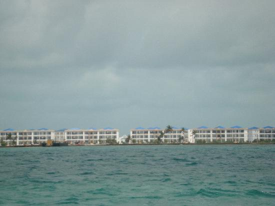 Reef Village Resort: view from the ocean