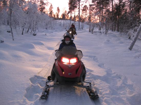 Nellim Wilderness Hotel: Snowmobiling