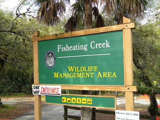 Palmdale, Флорида: Entrance to Fisheating Creek Campground