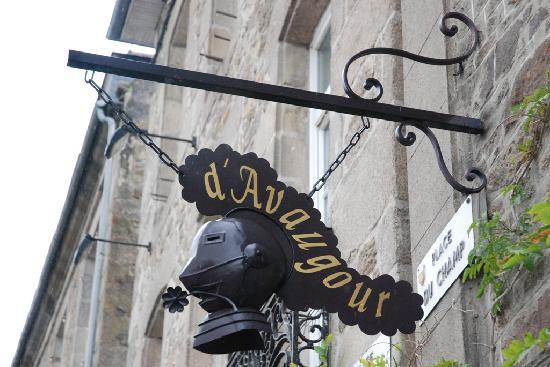 Hotel Le d'Avaugour : Insegna Hotel