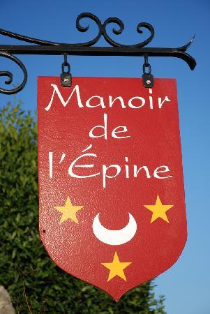 Manoir de l'Epine: Insegna