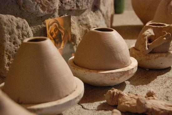Casas Grandes, Mexico: Our finished pots drying by the fire