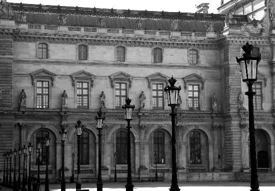Paris, Fransa: Courtyard The Louvre