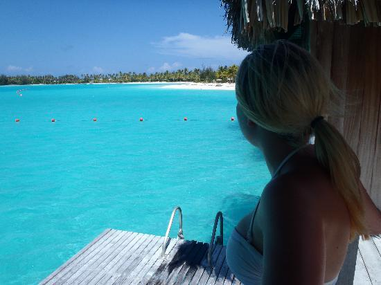 The St. Regis Bora Bora Resort: lookin at the beach