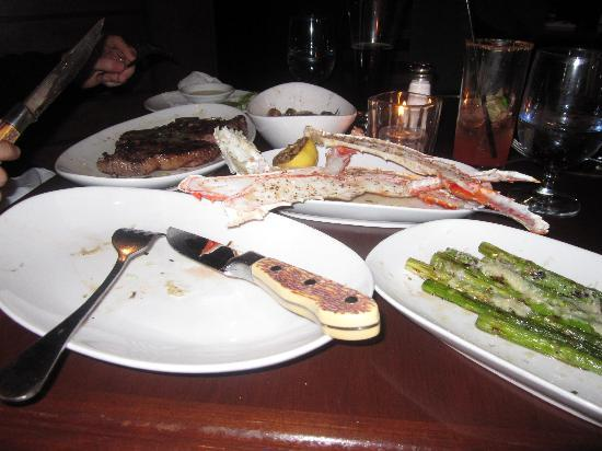 Saltlik : Not the best picture... we know. King crab and other dinner delicacies!