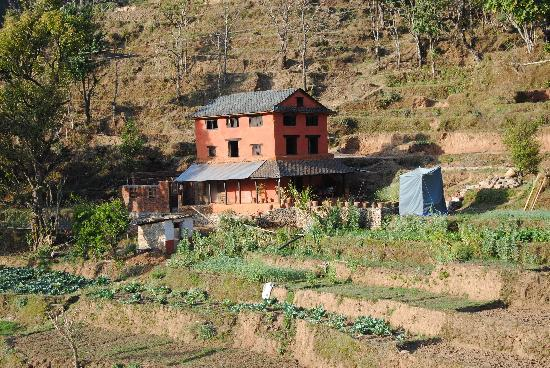 Samari Ghar and Lodge: As seen from the village