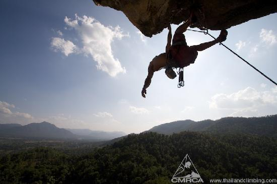 Chiang Mai Rock Climbing Adventures: Cruising limestone: climbing above Thailand's beautiful jungle views