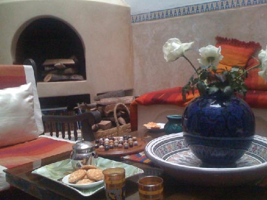 Riad Amana: sala centrale